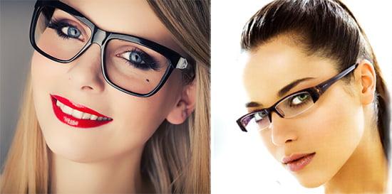 Макияж для лица в очках