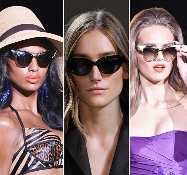 91335dc4bec4 spring summer 2014 eyewear trends cat eye sunglasses1.jpg. Модные  солнцезащитные очки сезона весна-лето 2016  ...